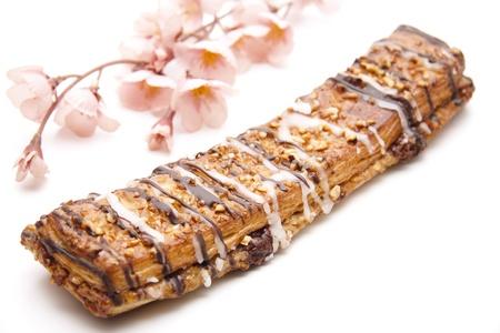 cafe y pastel: Caf� con pastel ramo de flores