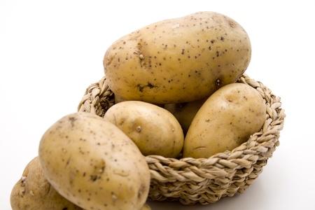 Potato in the basket photo