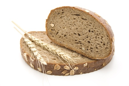 Wholemeal bread with wheat ear
