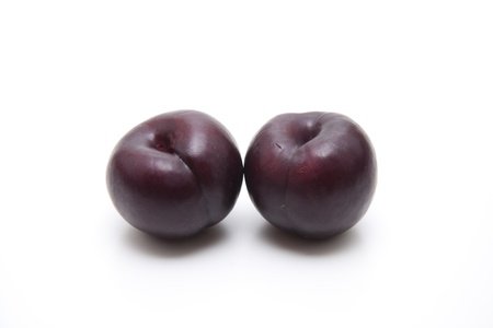 calories poor: Blue plums Stock Photo