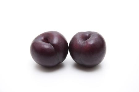 calories poor: Blue plums Stock Photo