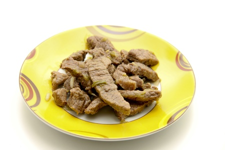 flesh: Pigs flesh with sauce  Stock Photo