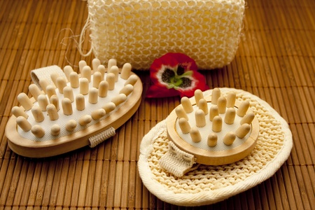Hairbrush and massage brush Stock Photo - 12905708