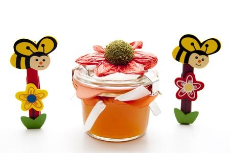 jams: Jams glass with bee