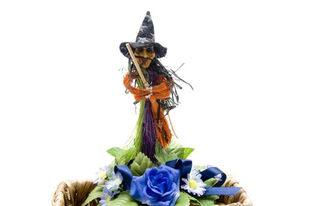 besom: Witch with besom