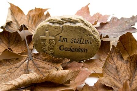 autumnally: Autumn foliage with thinking stone