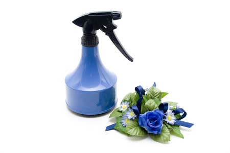 spr�hflasche: Blumen mit Spr�hflasche