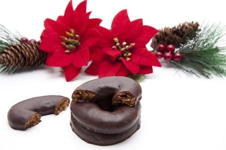 christmas flower:  Christmas cake with Christmas flower