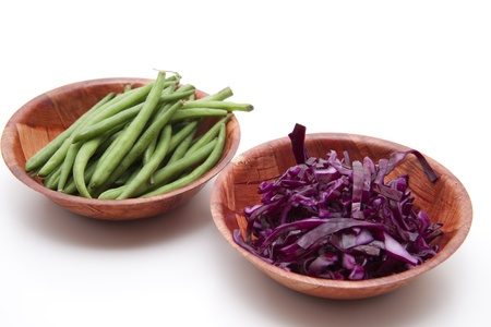 Green beans and red cabbage Stock Photo - 13113779