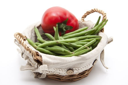green beans: Jud�as verdes con tomate