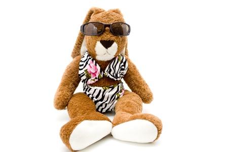 Rabbit with glasses and bikini photo