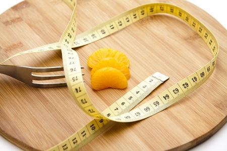 mandarins: Mandarins with measuring tape