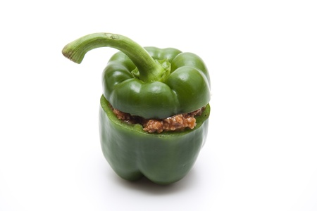 flesh: Stuffed pepper with minced meat flesh