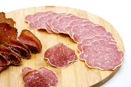 pepper salami: Cheese salami and pepper salami