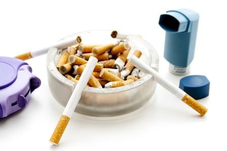breathlessness: Full ashtray