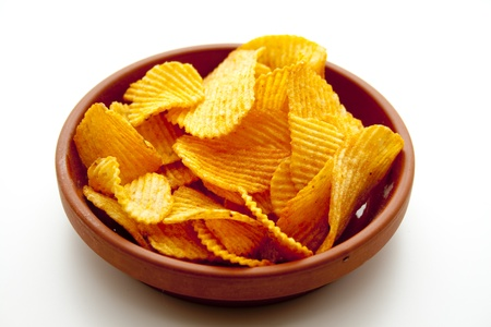 sharply: Potato crisps Stock Photo