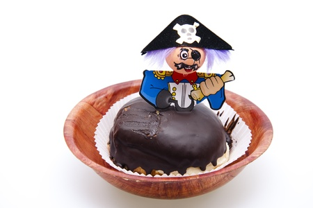 Berlin doughnuts with pirates figure Stock Photo - 13458432