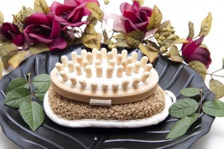 Massage brush on sponge  photo