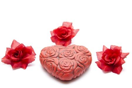 Dear heart and rose photo