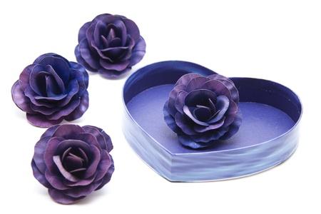 Blue blossom in the dear symbol photo