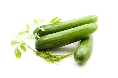 Salad cucumbers with herbs Stock Photo - 17101874