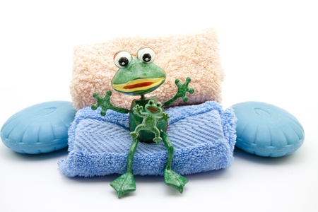 towelling: Frog with soap