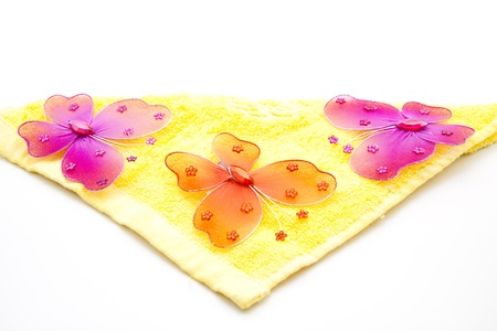 washcloth:  Butterfly with washcloth Stock Photo