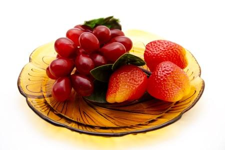 uvas vino: Las fresas y uvas de vino
