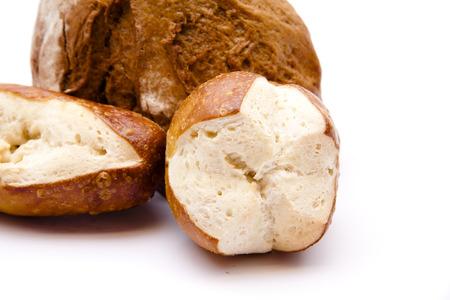 lye:  Lye bread rolls with bread