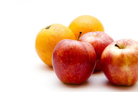 Apples with oranges photo