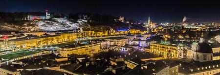 Salzburg at night Editorial