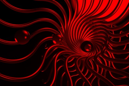 digitally generated image: Abstract design with a background. Red digitally generated image