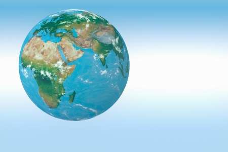 3D render Planet Earth.Maps from http:www.shadedrelief.com  photo