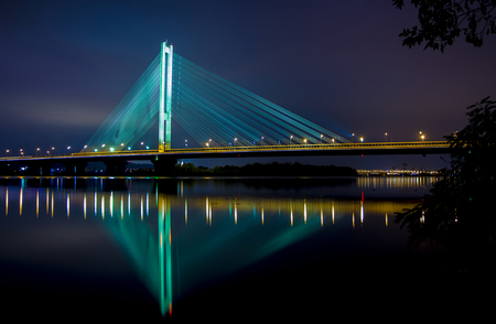 Ukraine. Kyiv Pivdenny Mist Southern Bridge background