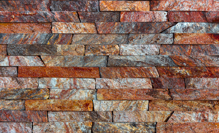red Slate Stone Wall background Texture close up