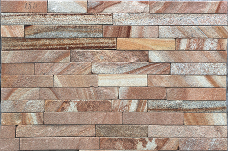 Modern Multi Color Stone, slate travertine sandstone Wall used for Background Stock Photo - 90782207
