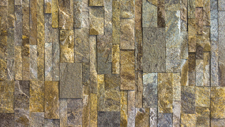 Modern Multi Color Stone Wall used for Background
