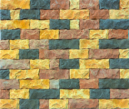 Decorative Brick Wall From Concrete Facing Tiles As Background ...