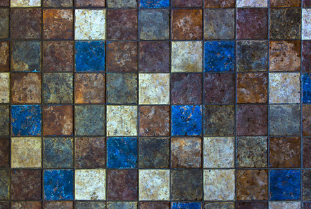 Mosaic of natural stone, travertine marble, sandstone and granite. Standard-Bild
