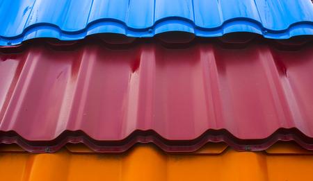 Textur von Metall Schindeln close up Hintergrund