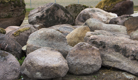 Large stones for use in landscape design, when mounting alpine slides and Japanese stone gardens.