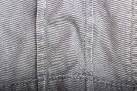 Background and texture of natural brown Sackcloth with Stitches Seam Stock Photo