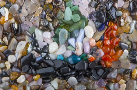background from multicolored polished stones background rexture