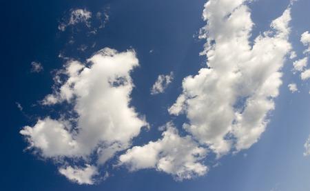 White cloud on a clear blue sky