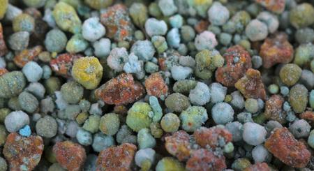 Composite mineral fertilizers. Background selective focus Foto de archivo