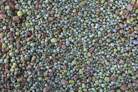 Composite mineral fertilizers. Background selective focus Archivio Fotografico