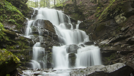 Shipot Shipit - one of the most beautiful and the most full-flowing waterfalls Stok Fotoğraf