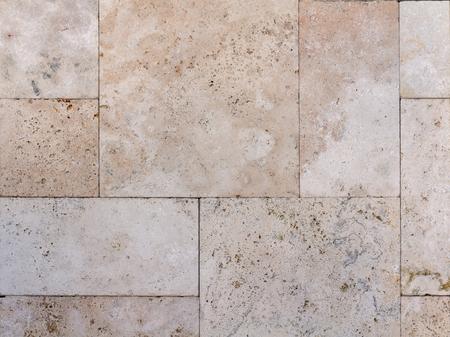 Textura de la pared de piedra natural, travertino, arenisca y fondo de mármol.