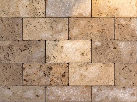Textura de la pared de piedra natural, travertino, arenisca y fondo de mármol. Foto de archivo