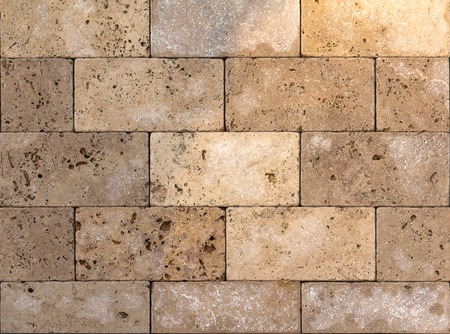 texture of the wall of natural stone, travertine, sandstone and marble background Stock Photo